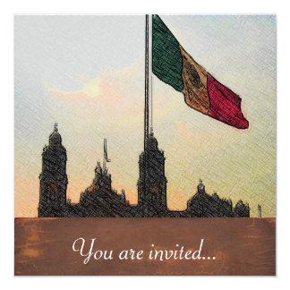 La Bandera 2.jpg de la estafa del EL Zocalo del DF Invitación 13,3 Cm X 13,3cm
