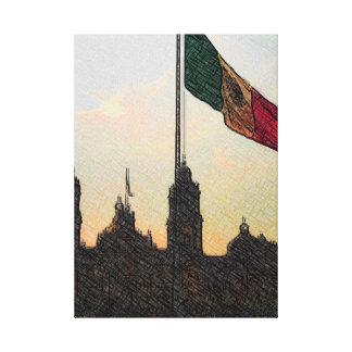 La Bandera 2.jpg de la estafa del EL Zocalo del DF Lona Envuelta Para Galerias