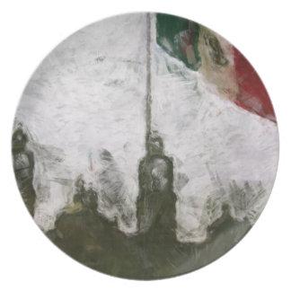 La Bandera 4 de la estafa del EL Zocalo del DF del Plato Para Fiesta