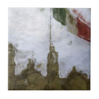 La Bandera 5.jpg de la estafa del EL Zocalo del DF Azulejo Cuadrado Pequeño