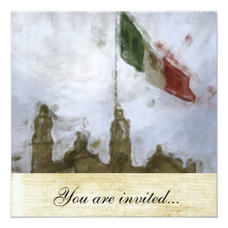 La Bandera 5.jpg de la estafa del EL Zocalo del DF Invitación 13,3 Cm X 13,3cm