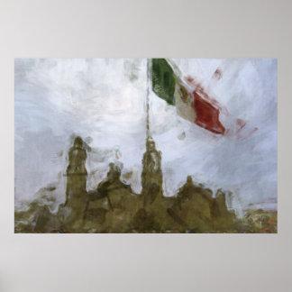 La Bandera 5.jpg de la estafa del EL Zocalo del DF Póster