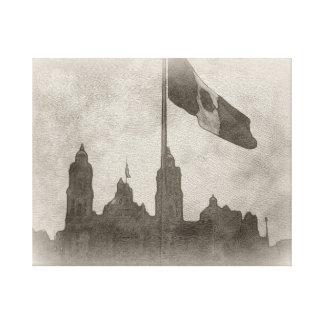 La Bandera 6 de la estafa del EL Zocalo del DF del Impresión En Lona Estirada