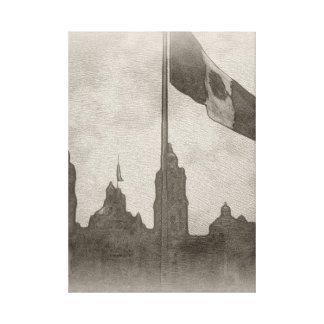 La Bandera 6 de la estafa del EL Zocalo del DF del Impresiones En Lona Estiradas