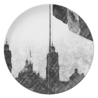 La Bandera 8 de la estafa del EL Zocalo del DF del Plato