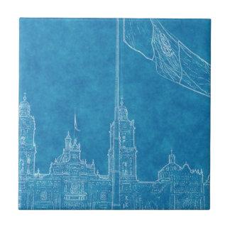 La Bandera 9.jpg de la estafa del EL Zocalo del DF Azulejo Cuadrado Pequeño
