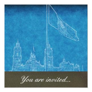 La Bandera 9.jpg de la estafa del EL Zocalo del DF Invitación 13,3 Cm X 13,3cm