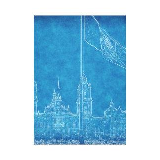 La Bandera 9.jpg de la estafa del EL Zocalo del DF Lona Estirada Galerías