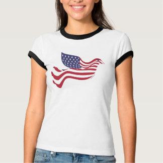 ¡La BANDERA AMERICANA como paloma de la paz! Camiseta