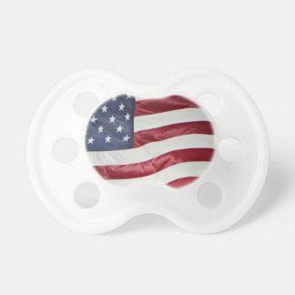 La bandera americana, estrella Spangled el azul Chupete