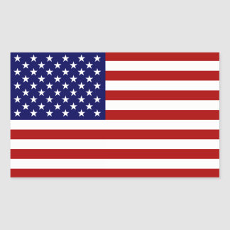 La bandera americana rectangular pegatinas