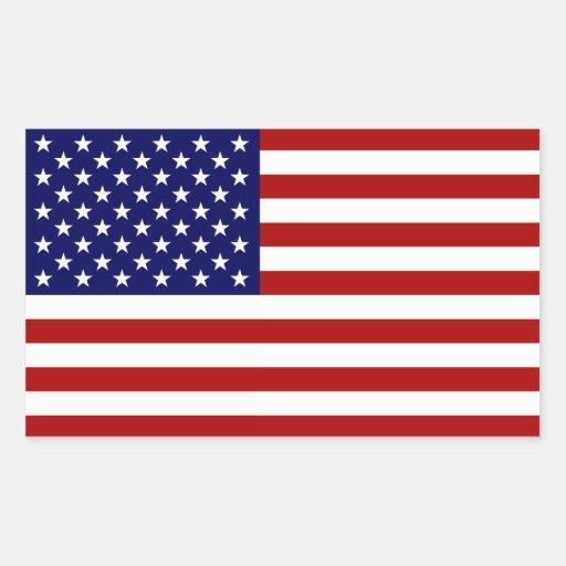 La bandera americana rectangular pegatina