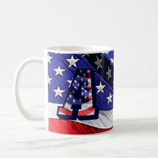 """La bandera americana y pone letras a """"A"""" en la Taza De Café"""