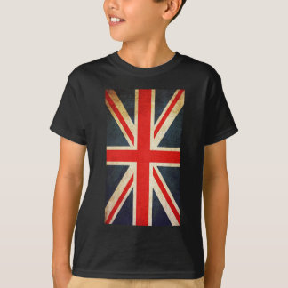 La bandera británica de Union Jack del vintage Camiseta