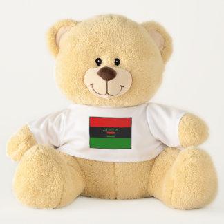 La bandera de África colorea el oso de peluche