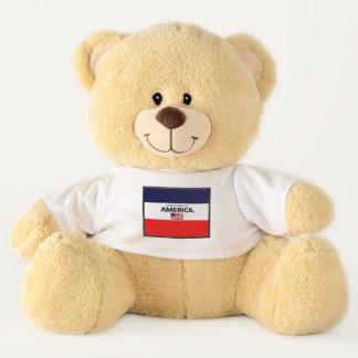La bandera de América colorea el oso de peluche