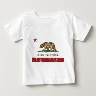 la bandera de California ceres distressed.png Camiseta De Bebé