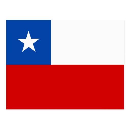 La bandera de Chile Tarjeta Postal