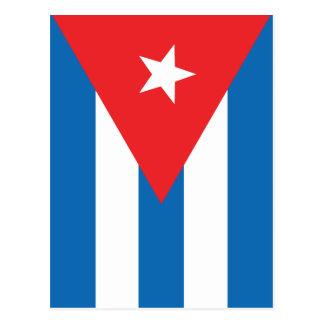 La bandera de Cuba Postal