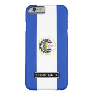La bandera de El Salvador Funda Barely There iPhone 6