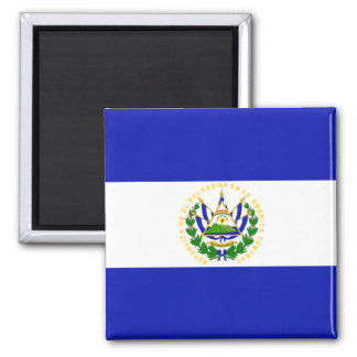 La bandera de El Salvador. Imán Cuadrado