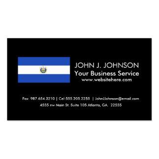 La bandera de El Salvador Tarjetas De Visita
