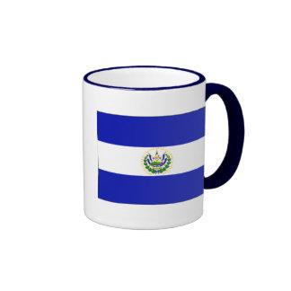 La bandera de El Salvador. Taza De Café