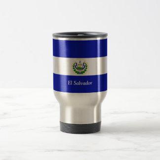 La bandera de El Salvador. Taza De Viaje De Acero Inoxidable