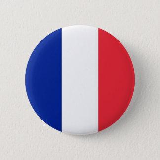 La bandera de Francia Chapa Redonda De 5 Cm