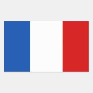 La bandera de Francia Rectangular Pegatinas