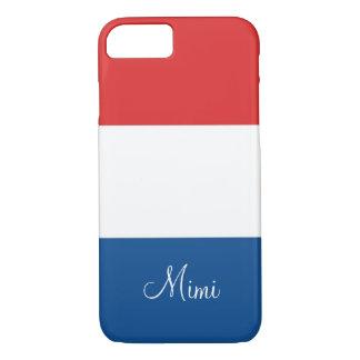 La bandera de Francia personalizó Funda iPhone 7