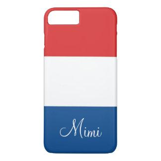 La bandera de Francia personalizó Funda iPhone 7 Plus