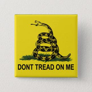 La bandera de Gadsden no pisa en mí Chapa Cuadrada