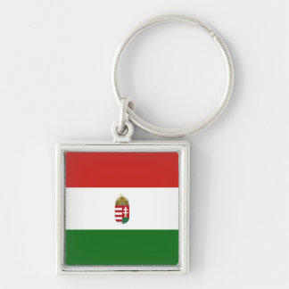 La bandera de Hungría Llavero