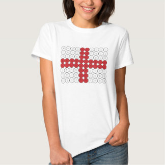 La bandera de Inglaterra abotona la camiseta