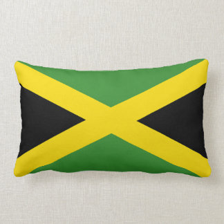 La bandera de Jamaica Cojín Lumbar