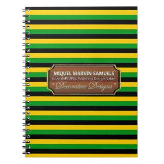 La bandera de Jamaica colorea el cuaderno del