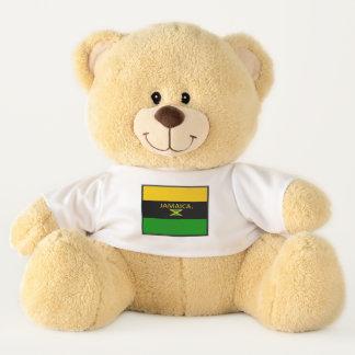 La bandera de Jamaica colorea el oso de peluche