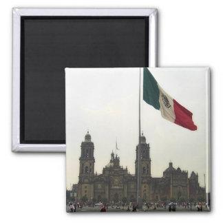 La Bandera de la estafa del EL Zocalo del DF del e Imán