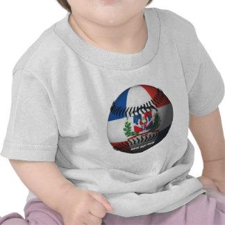 La bandera de la República Dominicana cubrió béisb Camiseta