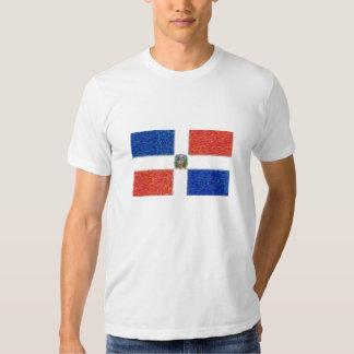 La bandera de la República Dominicana puede estilo Camisetas