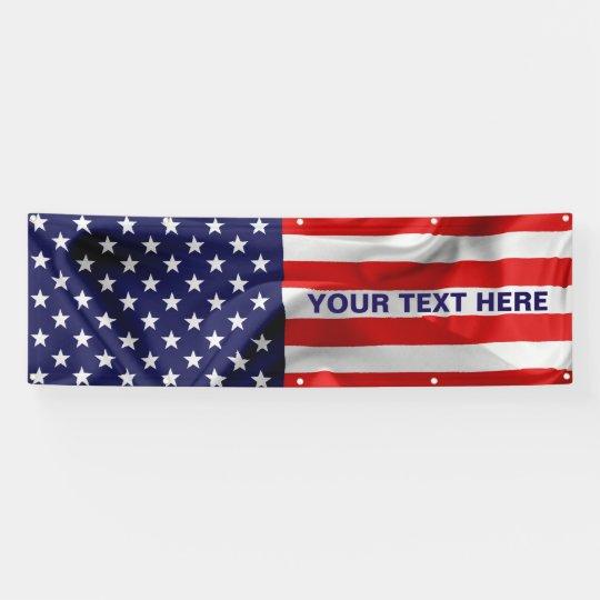La bandera de los Estados Unidos de América. Lona