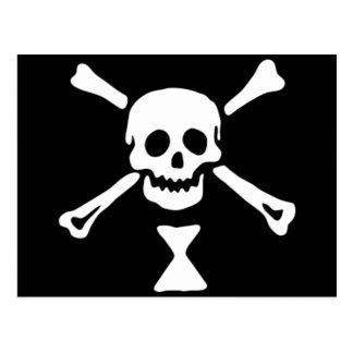 La bandera de pirata auténtica de Manuel Wynne Postal