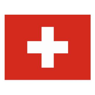 La bandera de Suiza muere der Schweiz de Postal