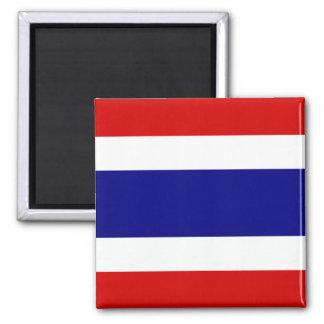 La bandera de Tailandia Imán Cuadrado