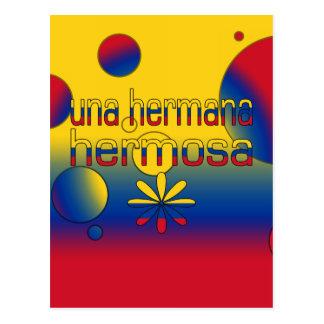 La bandera de Una Hermana Hermosa Colombia colorea