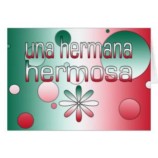 La bandera de Una Hermana Hermosa México colorea a Tarjeton