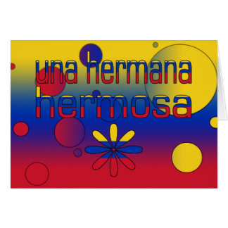 La bandera de Una Hermana Hermosa Venezuela colore Felicitacion