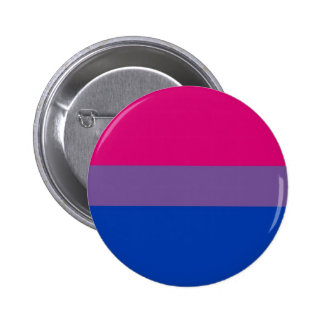 La bandera del BI vuela para el orgullo bisexual Chapa Redonda 5 Cm