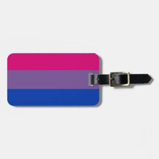 La bandera del BI vuela para el orgullo bisexual Etiqueta De Equipaje
